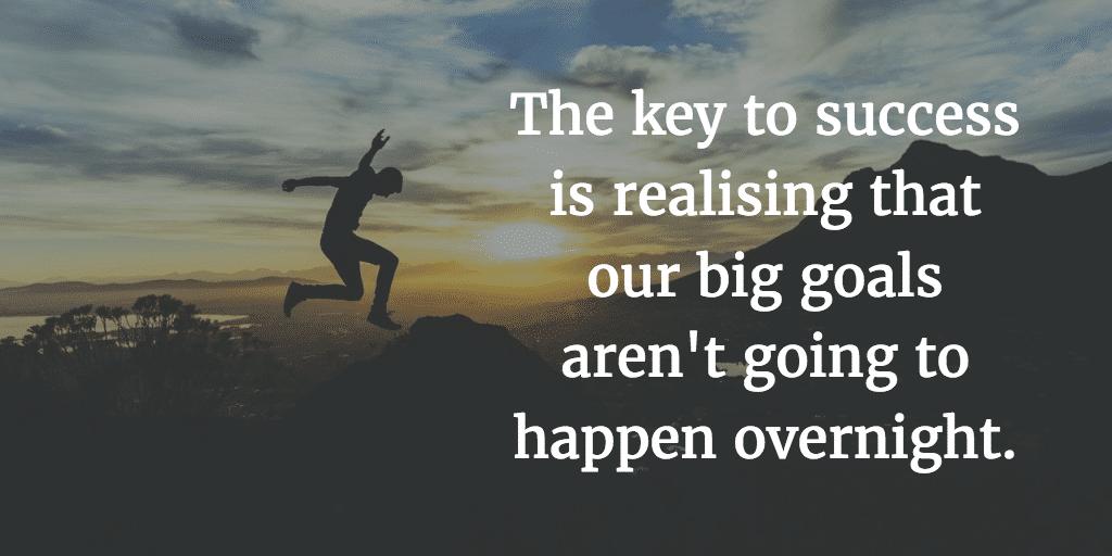 Pequenas vitórias são etapas para atingir grandes objetivos