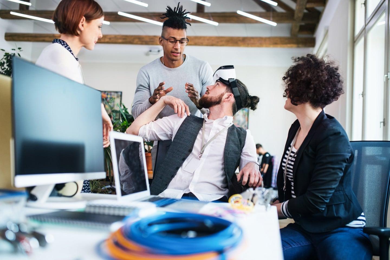 Trabalhadores freelancers alocados em Coworking